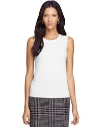 Brooks Brothers Sleeveless Cashmere Shell - Lyst