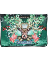Manish Arora Embellished & Printed Leather Pouch - Multicolour