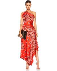 Moschino Bandana Print Silk Gown - Lyst
