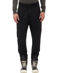 "DRKSHDW by Rick Owens Drop-Rise Faille ""Astaire"" Trousers - Lyst"