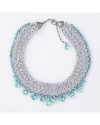 Paul Smith - Women's Teal Beaded And Tanzanite 'cleopatra' Necklace - Lyst