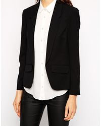 Oasis Black Textured Jacket - Lyst