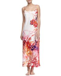 Natori Rococo Long Satin Gown - Lyst