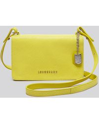 Longchamp Crossbody - Quadri yellow - Lyst