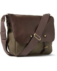 Bill Amberg - Hunter Canvas And Leather Backpack - Lyst