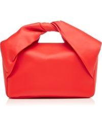J.W. Anderson Twisted Leather Clutch - Lyst