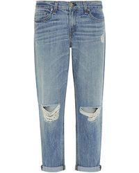 Rag & Bone Distressed Boyfriend Jeans - Lyst