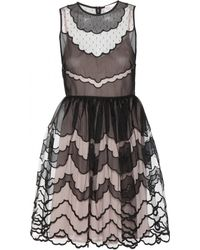 RED Valentino Embroidered Tulle Dress - Lyst
