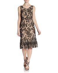 Jill Stuart Sleeveless Rose Lace Dress - Black