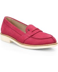 Tod's Ivy Suede Loafer Sneakers pink - Lyst
