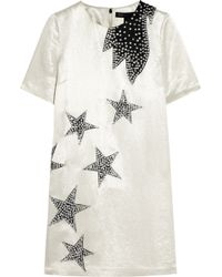 Marc By Marc Jacobs - Cosmo Night Star Appliquéd Satin Mini Dress - Lyst