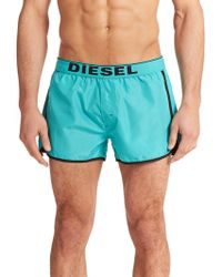 Diesel Revy Reversible Swim Shorts blue - Lyst
