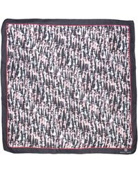Rena Lange Square Scarf - Gray