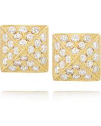 Anita Ko Spike 18-Karat Gold Diamond Earrings - Lyst