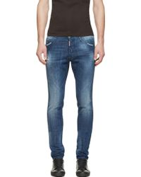 DSquared2 Blue Distressed Cool Guy Jeans - Lyst