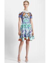Mary Katrantzou Print Pebbled Fit & Flare Dress - Lyst