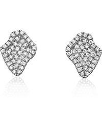 Kimberly Mcdonald - Pavé Diamond Geode-shaped Earrings - Lyst