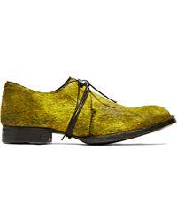 Barny Nakhle Calf Hair Oxford Shoes - Green