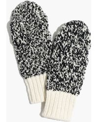 Madewell White Cabletwist Mittens - Lyst