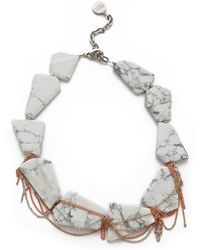 Gemma Redux - Stone Drip Chain Collar Necklace - Lyst