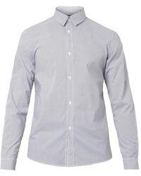 A.P.C. Striped Cotton Shirt - Lyst