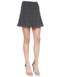 MICHAEL Michael Kors Nezla Dot-Print Flare Skirt - Lyst
