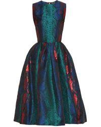 House Of Holland Snake-Effect Jacquard Midi Dress - Lyst