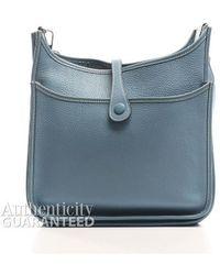 Hermès Pre-Owned Blue Jean Clemence Evelyne Ii Pm Bag blue - Lyst