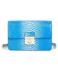 Milly Women'S 'Mini Sullivan - Ombre' Snake Embossed Leather Crossbody Bag - Blue - Lyst