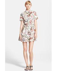 Valentino Women'S Print Cotton Fit & Flare Shirtdress - Lyst