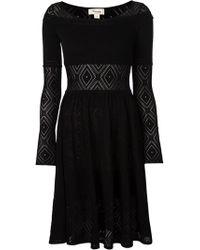 Temperley London Black Crocheted Dress - Lyst