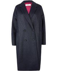 Paul by Paul Smith - Navy Metallic Weave Rafia Coat - Lyst
