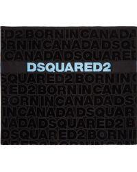 DSquared² Black Logo Beach Towel - Lyst