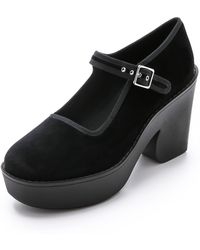 Marc By Marc Jacobs Mary Jane Wedges - Black/Black - Lyst