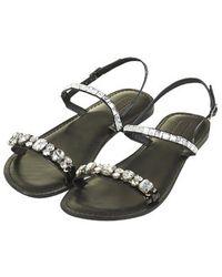Topshop Harn Embellished Sandals - Lyst