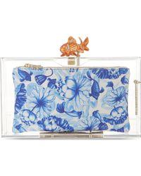 Charlotte Olympia Koi Goldfish Pandora Clutch Transparent - Lyst