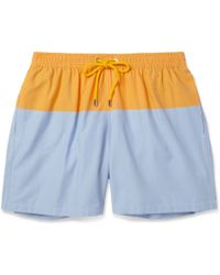 Façonnable - Mid-Length Cotton-Blend Swim Shorts - Lyst