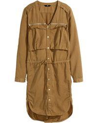 H&M Shirt Dress - Lyst