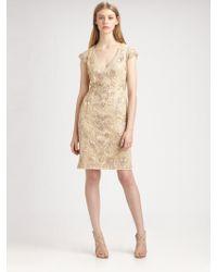 Sue Wong | Soutache Embroidery Dress | Lyst