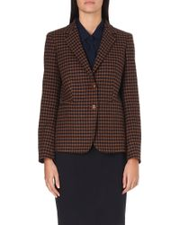 Max Mara Gin Checked Wool and Cashmere-blend Blazer - Lyst