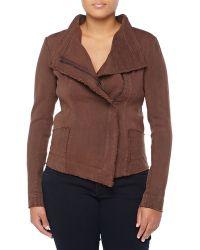 Donna Karan New York Asymmetric Zip-Front Jacket - Lyst