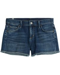 Citizens of Humanity Ava Cut-Off Denim Shorts - Lyst