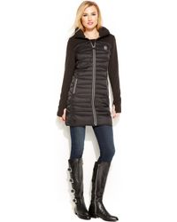 Michael Kors Michael Hooded Active Quilted Down Coat - Lyst