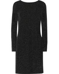 MICHAEL Michael Kors Metallic Jersey Mini Dress - Lyst
