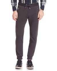 DIESEL | Herk Cotton Melange Sweatpants | Lyst