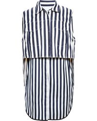 3.1 Phillip Lim Two Piece Striped Top - Lyst
