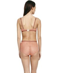 Morgan Lane | Drake Bra In Lace Coral | Lyst