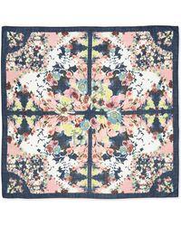 Erdem Peabody Square Wool Wallpaper Floral Print Scarf - Lyst