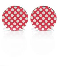 Duchamp Contrast Dot Cufflinks - Lyst