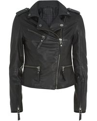 Karl Lagerfeld Odina Leather Biker Jacket - Lyst